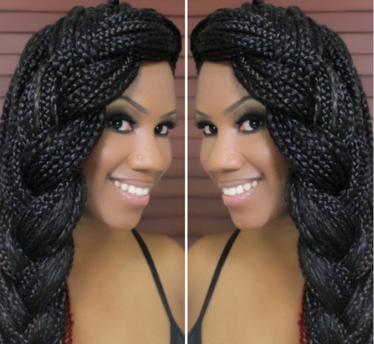 African American Box Braids Hairstyles 2019 Pictures