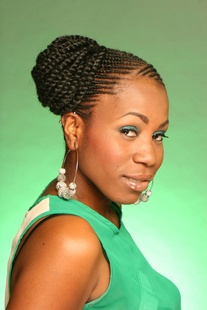 Superb How To Do African American Braided Updos Braids Short Hairstyles For Black Women Fulllsitofus
