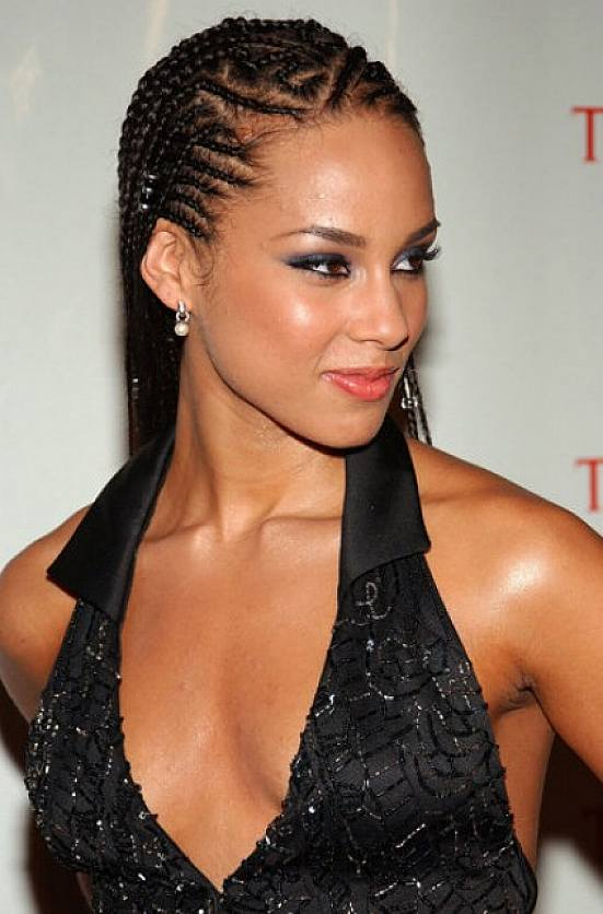 African American Cornrow Braided Hairstyles For Short Hair