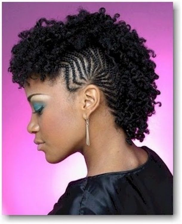 Braided Mohawk Hairstyles With Curls