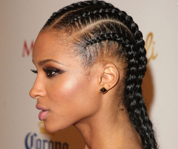 Cornrow Box Braids Hairstyles For African American Women