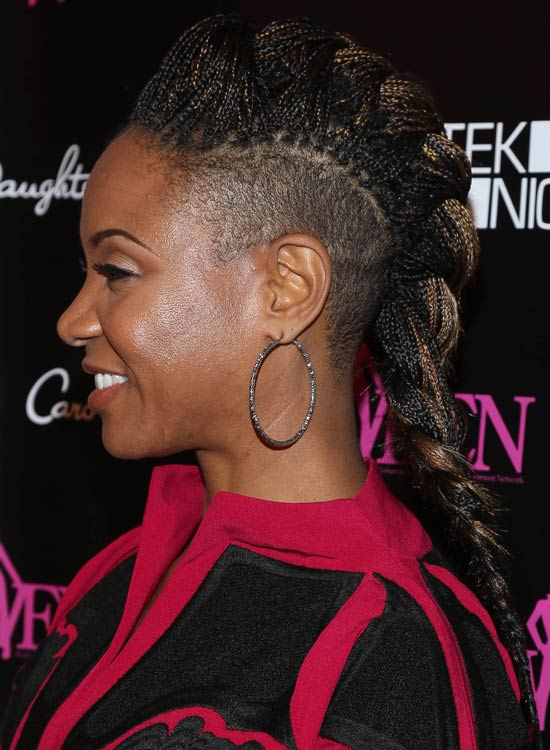 Mohawk Box Braids Hairstyle For African America Women