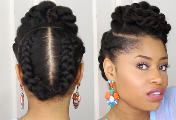 African American Natural Hairstyles for Long Hairs