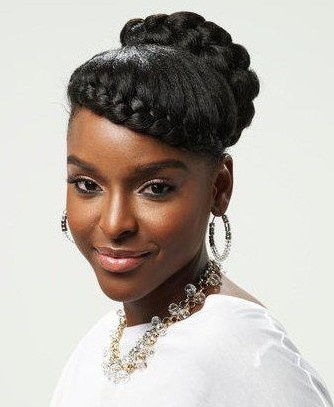 Cute Updos For Short Hair African American 01