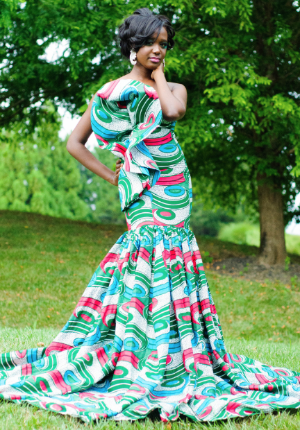 Latest African Print Dress Styles 2017 For Brides