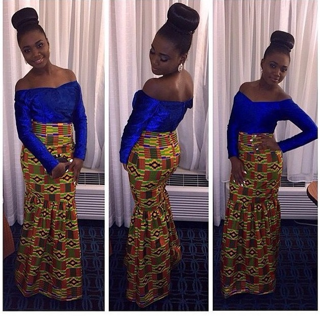 Latest Ghana Kente Dress Designs 2017