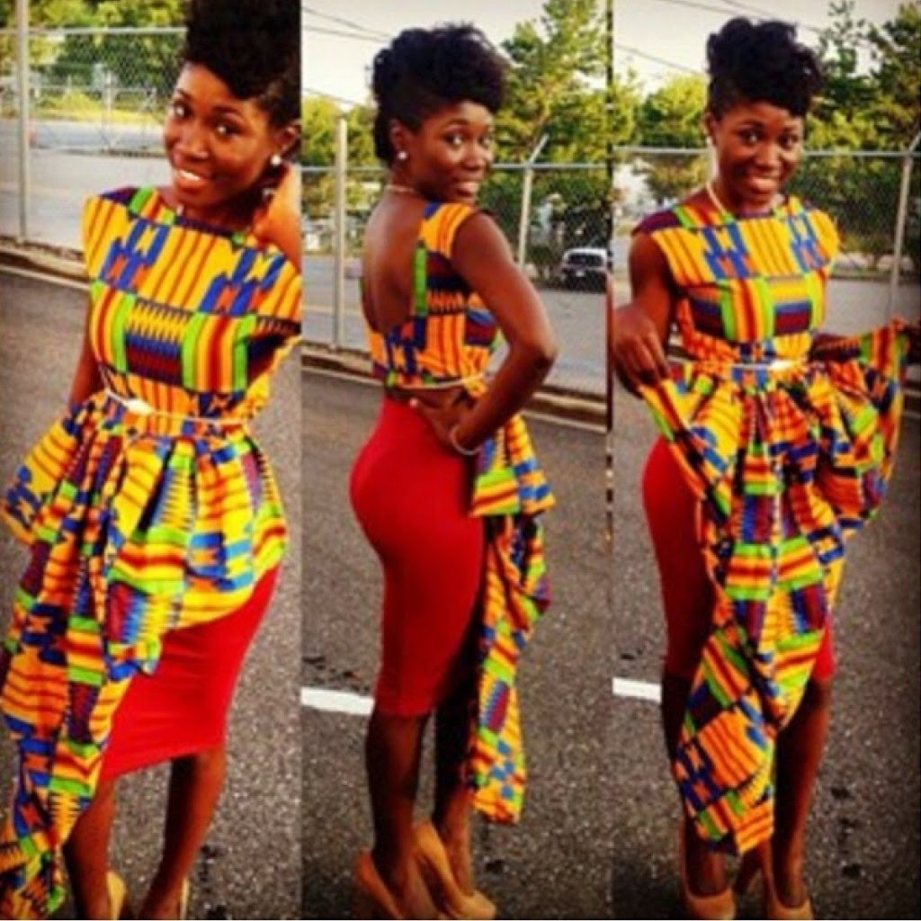 Latest Ghana Kente Dresses 2017