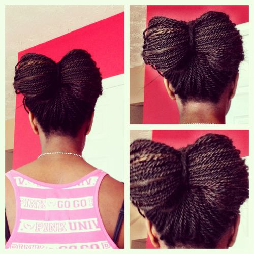 how to style senegalese twist in a bow