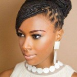 African American French Braid Updo Hairstyles Pictures