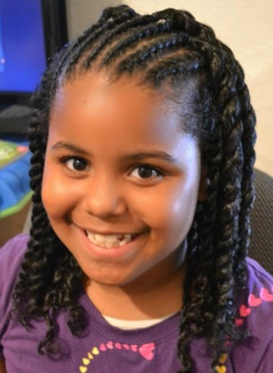 African American Little Girls Curly Hairstyle