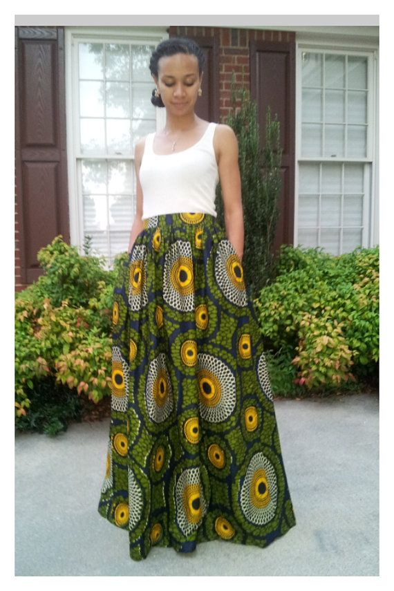 African Print Maxi Dress Designs Pattern Pictures