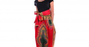 African Prints Maxi Skirts Dresses Patterns With Pockets