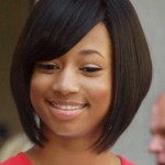 Black Short Haircuts For Round Faces 2017