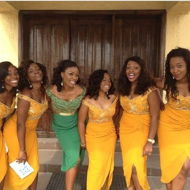Chief Bridesmaid Dresses In Nigeria Photos