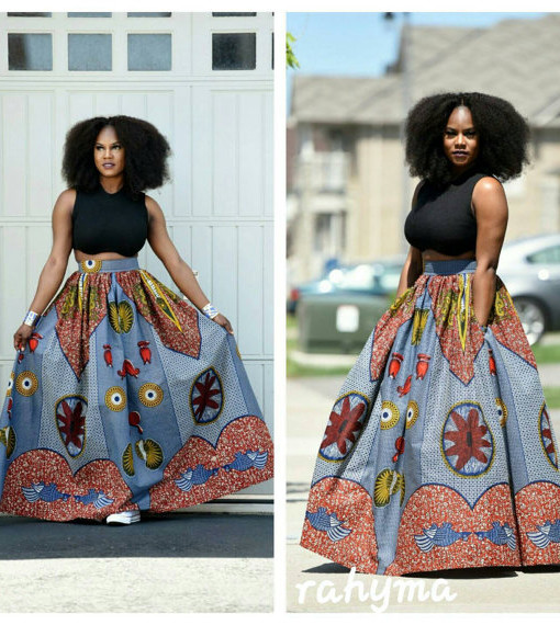 Latest African Prints Maxi Skirts Dresses Patterns With Pockets