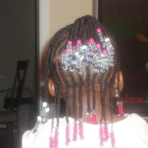 Excellent Little Black Girl Braid Hairstyles With Beads Hairstyles For Women Draintrainus
