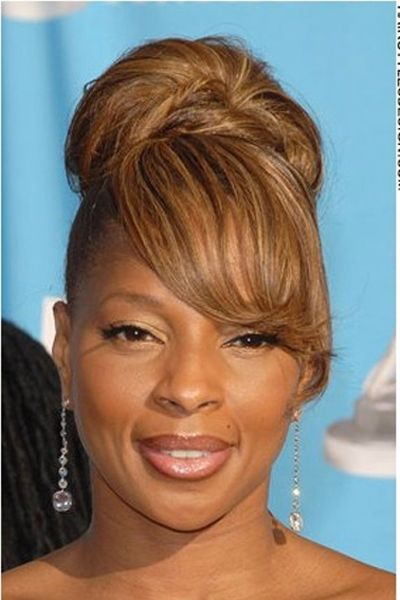 Excellent Mary J Blige Hairstyles 2017 Updo Bob Ponytail Hairstyle Inspiration Daily Dogsangcom