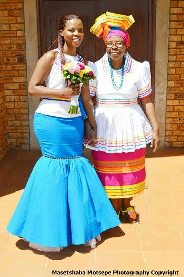 Sepedi Traditional Wedding Dresses Designs Photos
