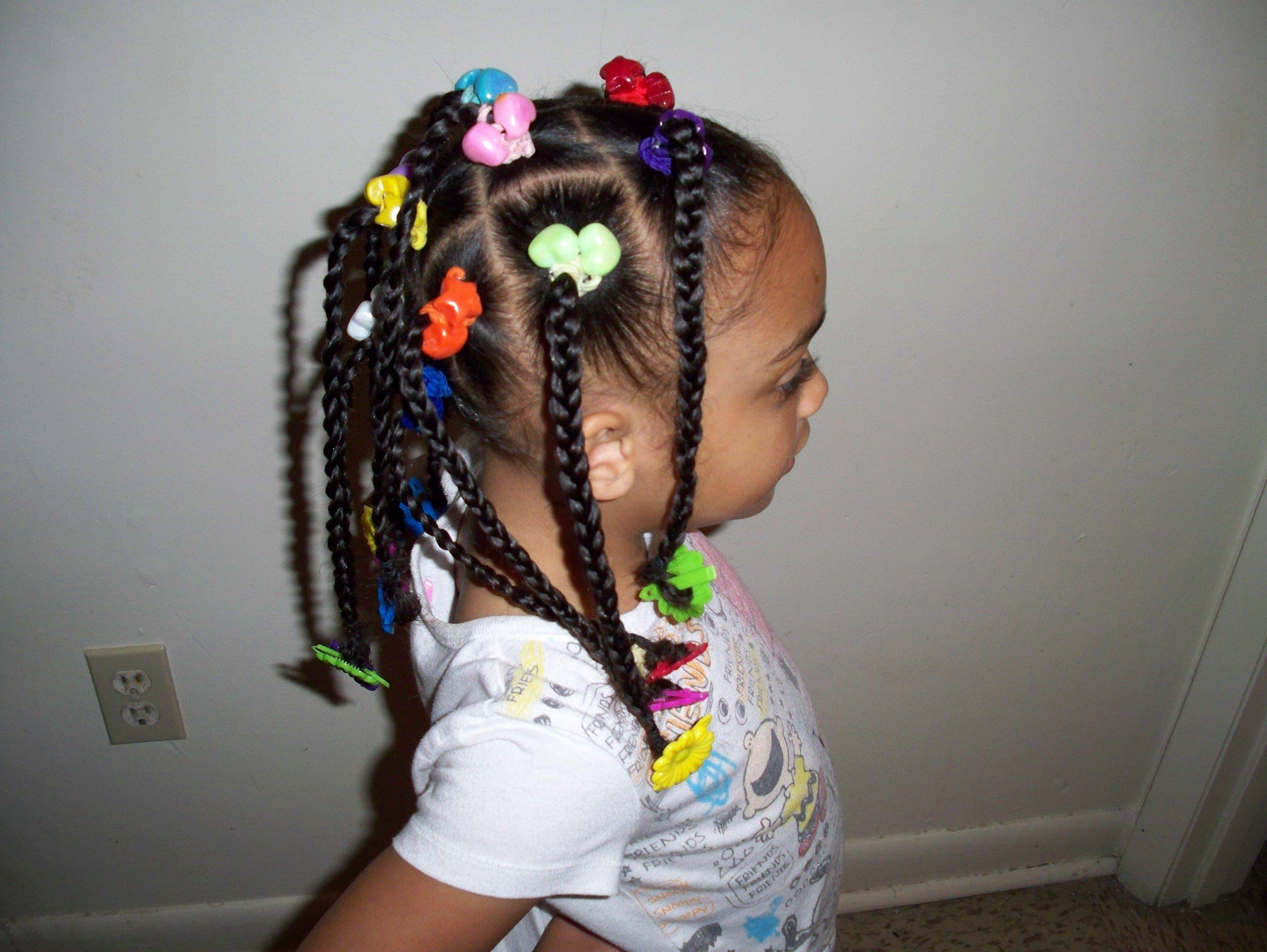 Braided hairstyle for black children