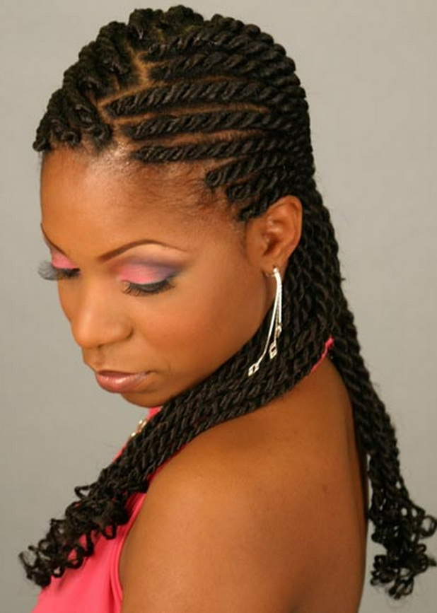 Braid updo hairstyles for black women long hair