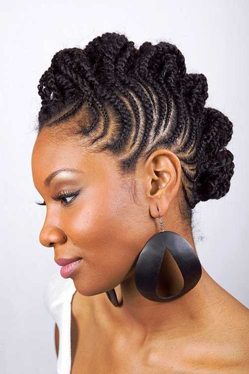 Braids Hairstyles with side shaved haircut