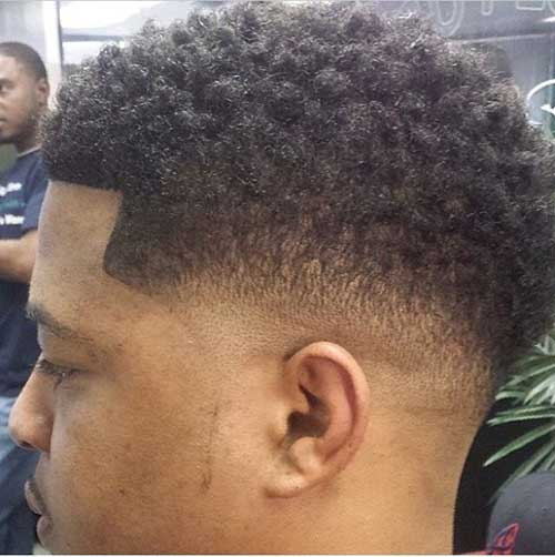 Curly fade haircut pictures