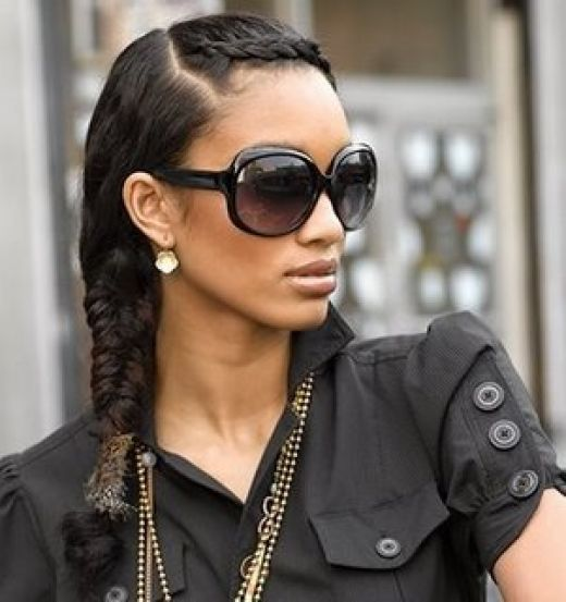 Fishtail Braid hairstyle and hair color