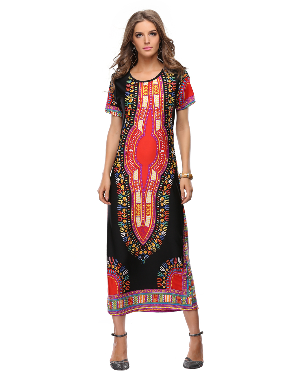 African American Dashiki Maxi Dress Designs Celebrities