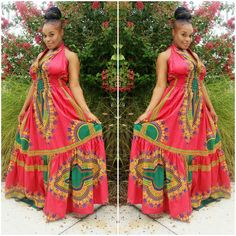 African American Dashiki Maxi Dress Designs