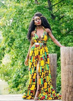 African American Dashiki Maxi Dress Designs 2018