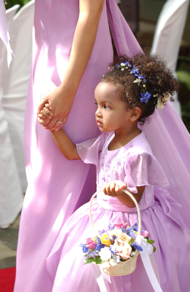 African American Flower Girl Wedding Hairstyles Pictures
