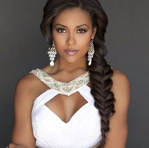 Fish Tail Bridesmaid Hairstyles For Black Women