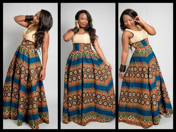 Latest Dashiki Maxi Dress Designs 2018