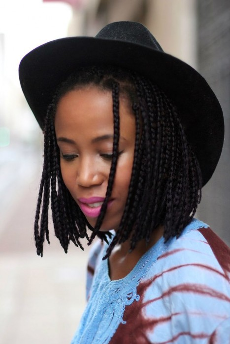 New Box Braids In A Bob Hairstyle For Black Women