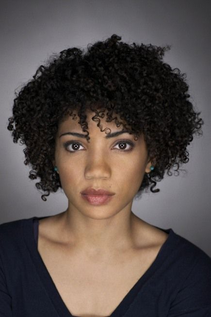 Spiral Curl Afro Razor Hairstyles For Black Women With Oval Faces
