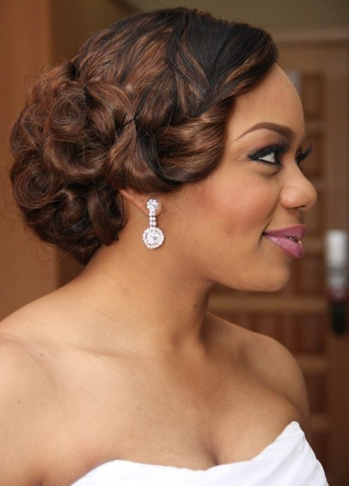 Updo Bridesmaid Hairstyles For Black Women