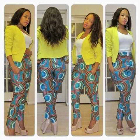 African Print Trousers For Ladies 2017 Photos