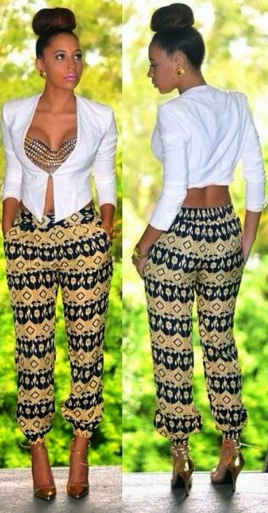 African Print Trousers For Ladies 2017 Pictures