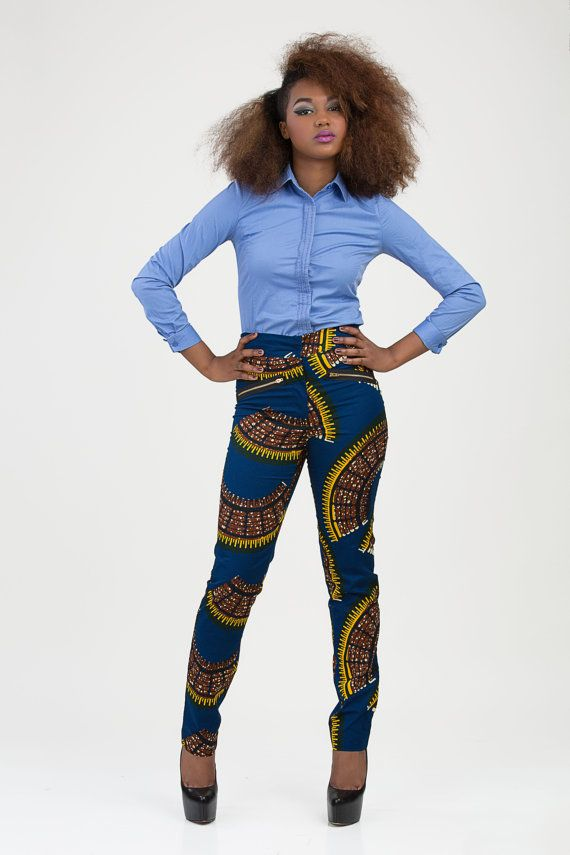 African Print Trousers For Ladies