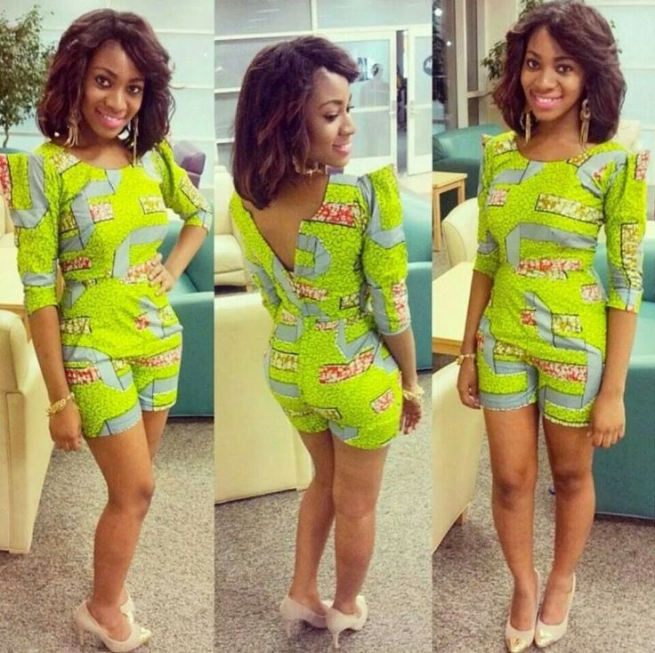 Ankara Short Jumpsuit Styles 2017 Pictures