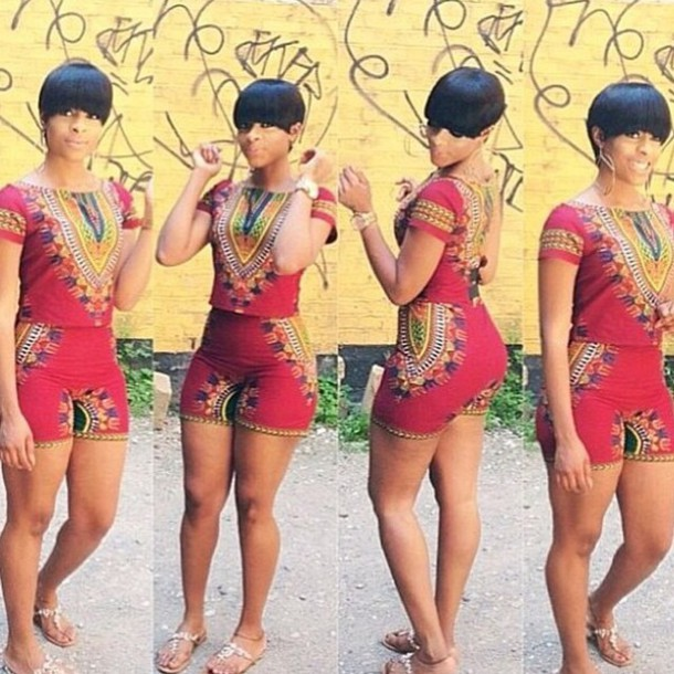 Ankara Short Jumpsuit Styles Pictures