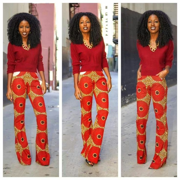 Latest African Print Trousers For Ladies 2017