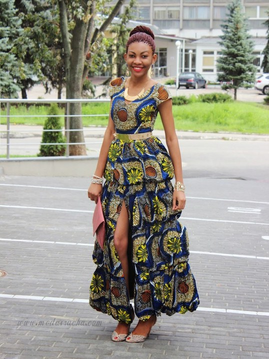 Ankara Long Gown Styles 2017 In Nigeria