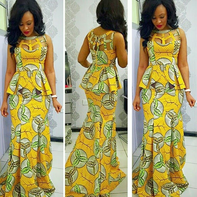 Latest Nigerian Skirt And Blouse Styles 2017