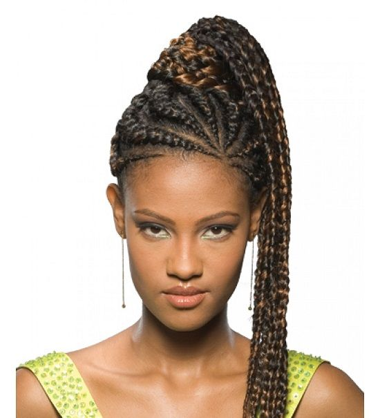 Latest Ponytail Braids Hairstyles In Nigeria 2017 Pictures