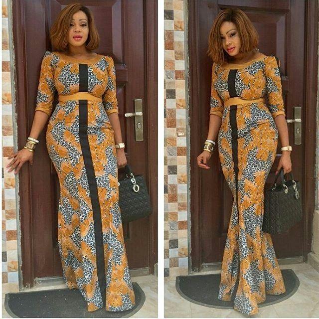 Nigeria Ankara Long Gown Styles 2017