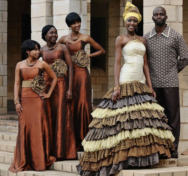 African Print Dress Styles For Weddings 2016 Pics
