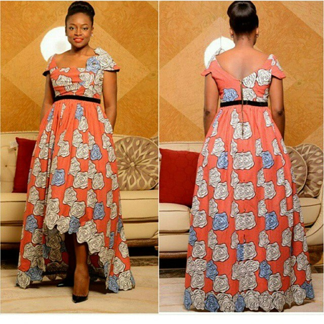 Ankara Long Gown Designs 2017 Dress Pictures