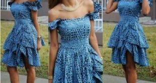 Ankara Short Gown Styles 2019