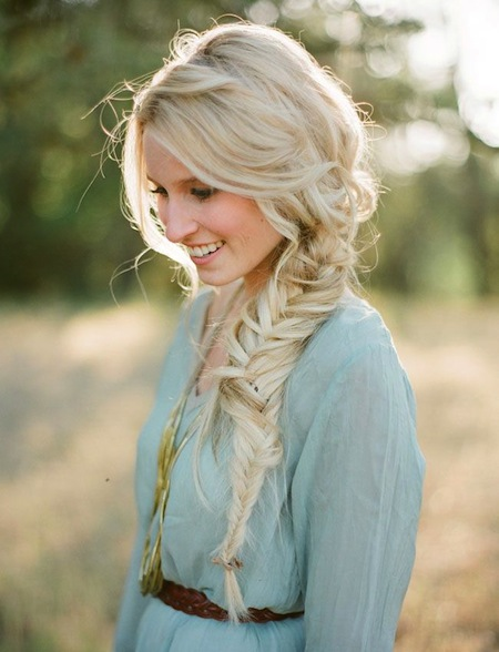 French Fishtail Braid Long Hairstyles Photos